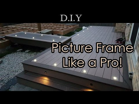 DIY Deck (Part 9): How to picture framing Azek deck boards and install fascia like a pro?