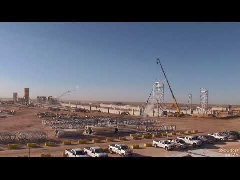 Permian Basin Frac Sand Mine Time-Lapse Construction Video