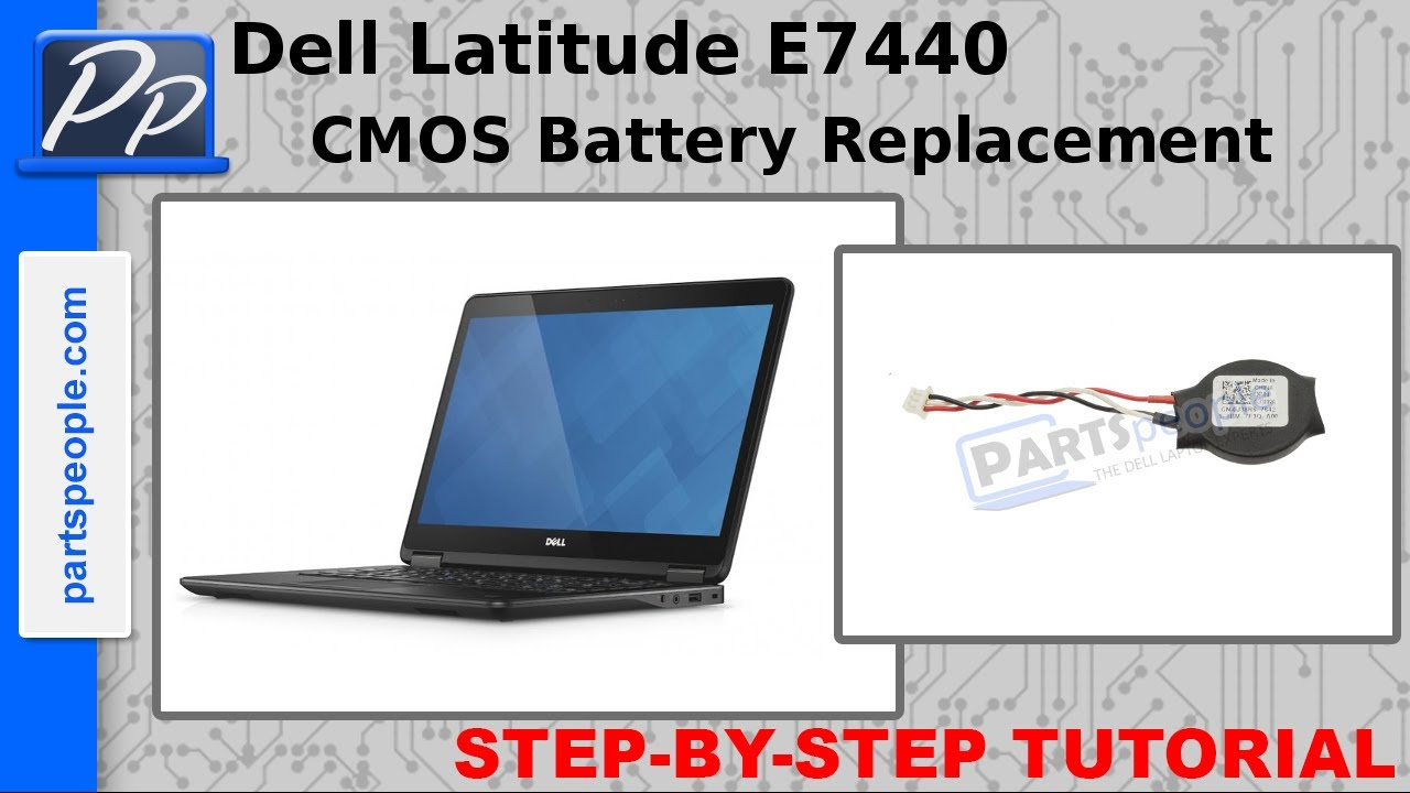 Dell Latitude E7440 CMOS Battery Video Tutorial Teardown