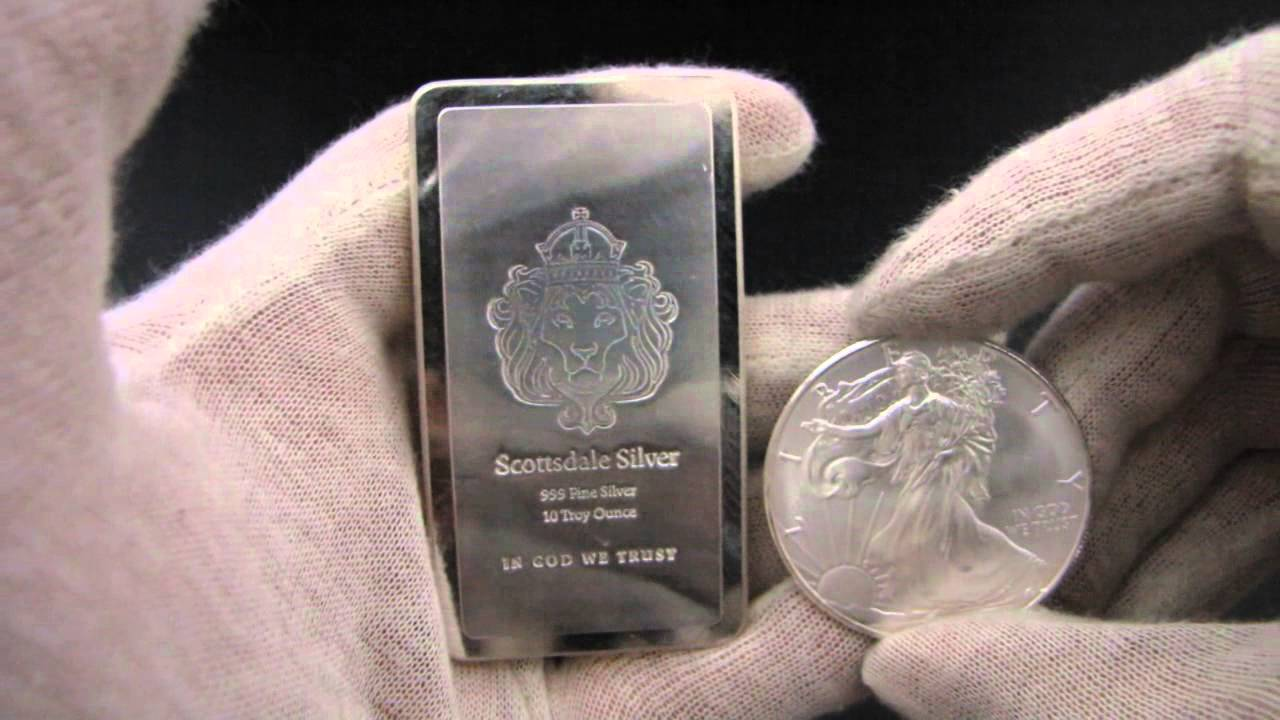 1 oz silver bar size
