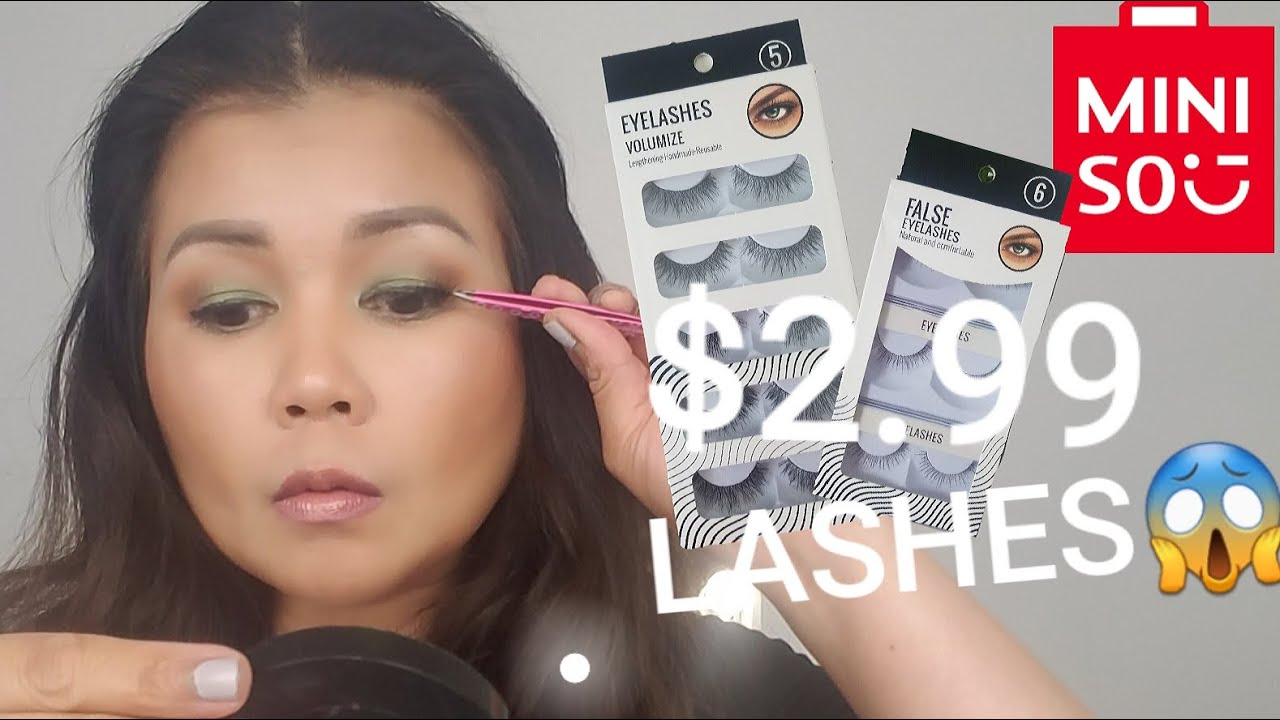a07ebfbca69 $2.99 LASHES AT MINISO - YouTube