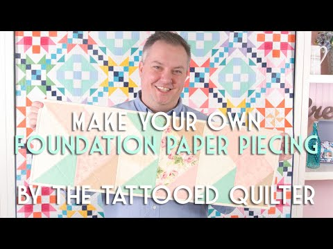 Paper Pieced Flying Geese Table Runner - The Tattooed Quilter | Fat Quarter Shop