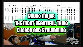 How to play Bruno Major - The Most Beautiful Thing Guitar Lesson