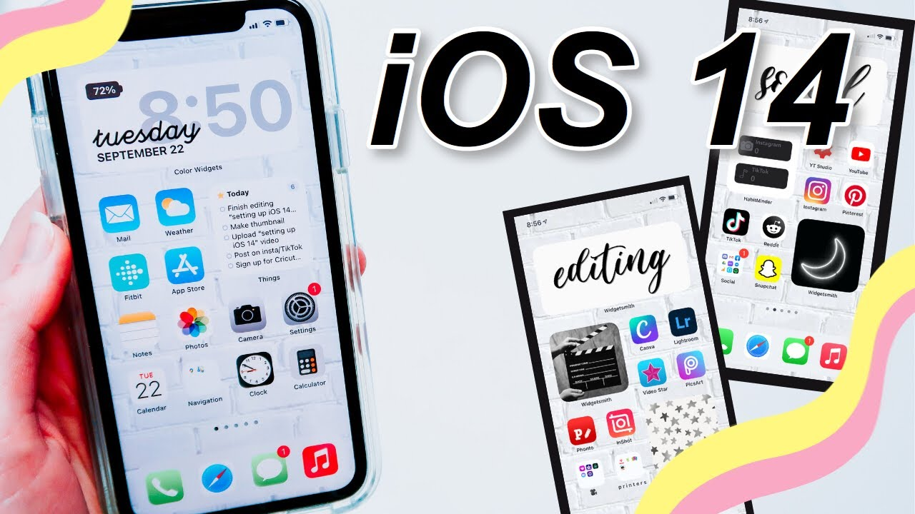 How to make your phone *aesthetic* (but still functional) with iOS 14 - NO APP SHORTCUTS!
