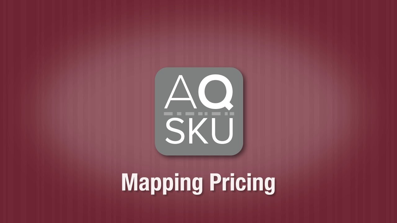 AQ SKU Mapping Pricing