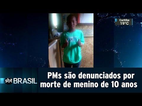 PMs são denunciados por envolvimento na morte de menino de 10 anos | SBT Brasil (29/08/18)