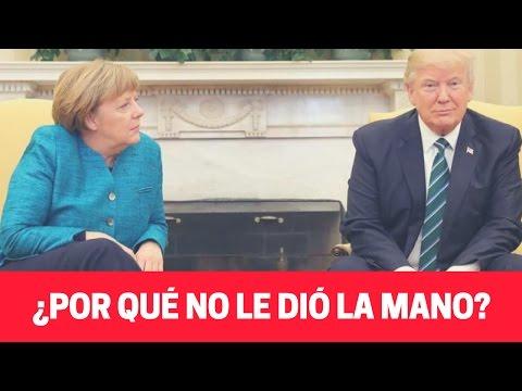 Donald Trump no le dio la mano a Ángela Merkel - LENGUAJE CORPORAL- Análisis