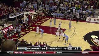 Repeat youtube video UNC at FSU (March 2, 2011): Barnes game-winner and the final minutes