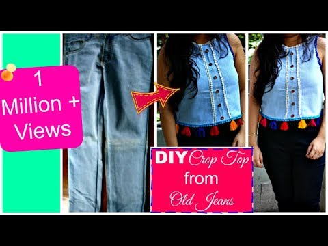 6071165d97e DIY Crop Top from Old Jeans