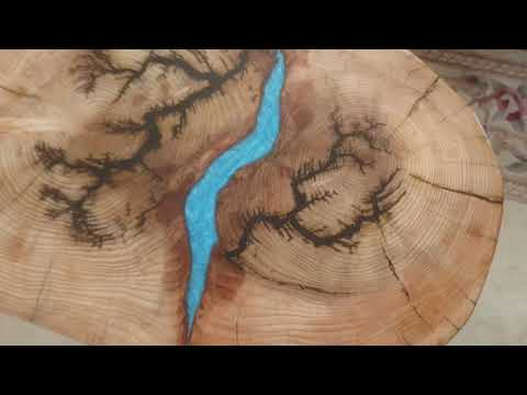 Epoxy Coffee table, Lighting and River