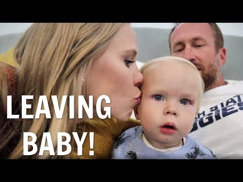 Mom's first time leaving baby overnight!