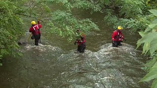Searchers Scour River for Missing Man Who May Have Jumped in to Save Dog