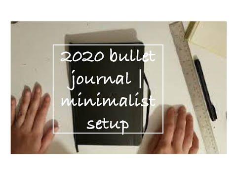2020 bullet journal | minimalist setup thumbnail