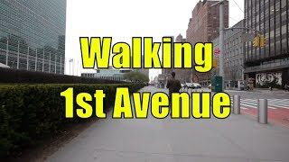 ⁴ᴷ Walking Tour of Manhattan, NYC - 1st Avenue from 59th Street to Houston Street