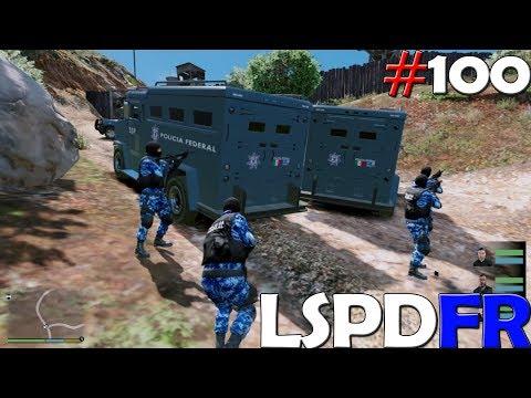 GTA V LSPDFR #100 POLICÍA FEDERAL - ATACANDO YATE DE LOS NARCOS  | TheAxelGamer