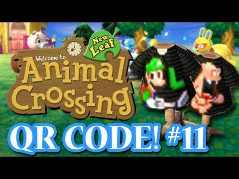 ANIMAL CROSSING: NEW LEAF - QR CODES - LUIGI'S MANSION SHIRT! (EPISODE 11)