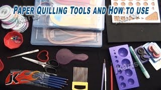 Paper Quilling Tools and How to use Quilling Tools -  JK Arts 212