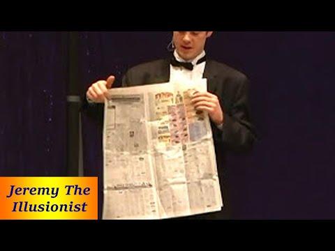 Jesus' Death And Resurection Told Through A Gospel Illusion Newspaper Trick