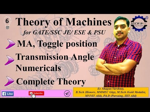 Theory of Machines Lecture 6: Mechanical advantage, toggle mechanism, transmission angle.