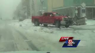 Boston roads snow, slush covered and treacherous