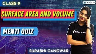 CBSE Class 9 : Surface area \u0026 Volume- Menti Quiz | Boards 2021 | Unacademy Class 9 and 10