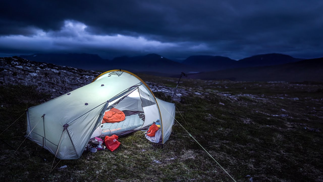Windy Conditions on High Mountain Camp