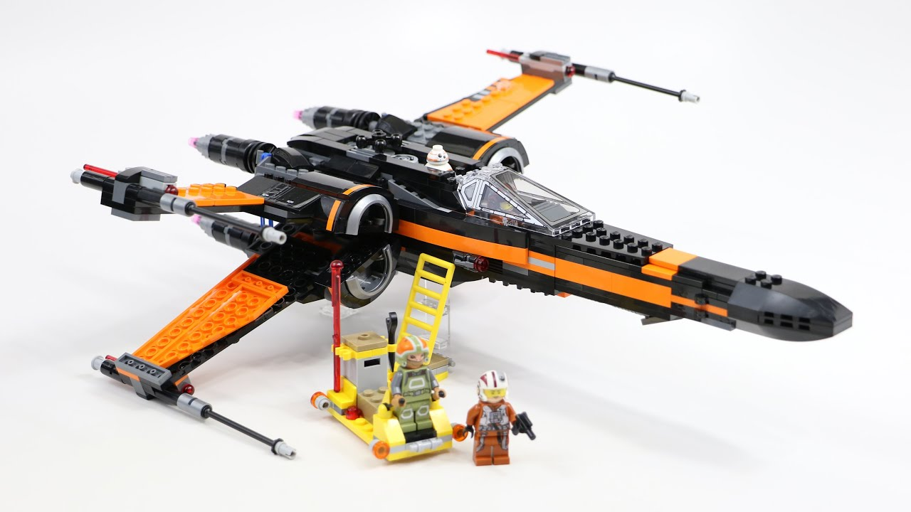 LEGO Star Wars Poes X,Wing Fighter (Timelapse  Review) , Set 75102