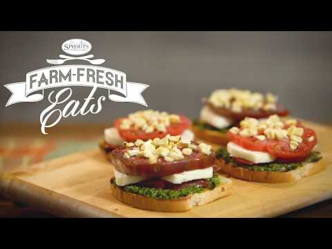 Open-Face Heirloom Tomato Sandwiches