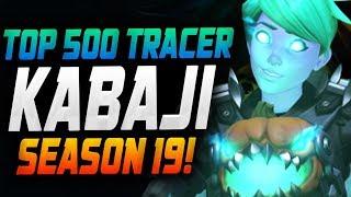 KABAJI DOMINATING AS TRACER! [ OVERWATCH SEASON 19 TOP 500 ]