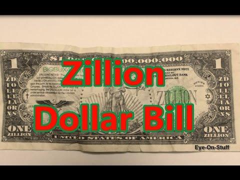 Zillion Dollar Bill : Eye-On-Stuff