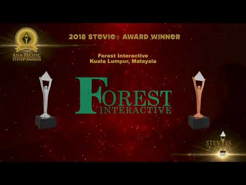 Forest Interactive wins in the 2018 Asia-Pacific Stevie Awards