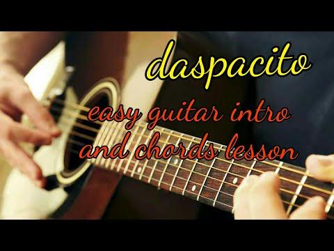 Despacito guitar intro and chord full lesson