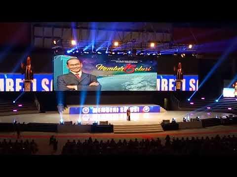 SAMBUTAN PRESIDENT DIRECTOR K-LINK INDONESIA  BPK  DATO .DR . MOHD RADZI SALEH DI ANNIVERSARY K-LINK