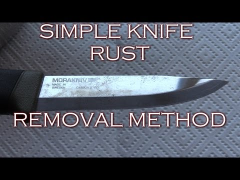 Quick Tip: Knife rust removal - Simple method!