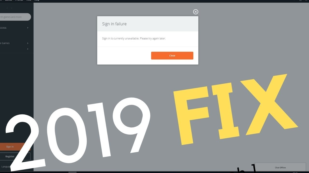 SOLVED 📢 : Origin Sign in Failure - Sign in is Currently Unvailaible 2019  🛠