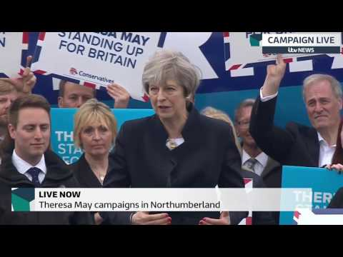 "Theresa May says the Conservatives will ""deliver for Britain"""