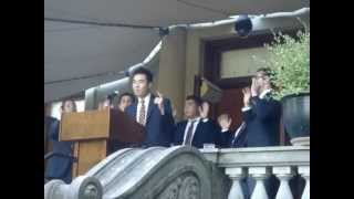 An acapella presentation by UC Berkeley Men's Octet during the Chan...