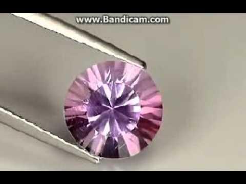 720  4.19 Ct Natural Brazil Light Purple AMETHYST Round Gemstone