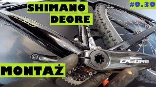 Jak ściągnąć i założyć korbę Shimano Deore, lub Hollowtech II. Serwis roweru.