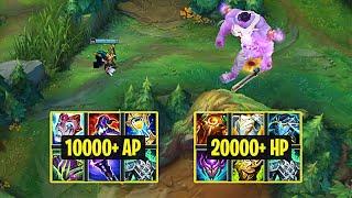 10000+ AP VEIGAR vs 20000+ HP MUNDO - League of Legends