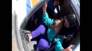 skydive goes wrong 80 year old woman slips from harness