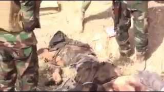 الجيش العراقي يعدم 14 ارهابي من تنظيم داعش في الانبار 2014/10/12