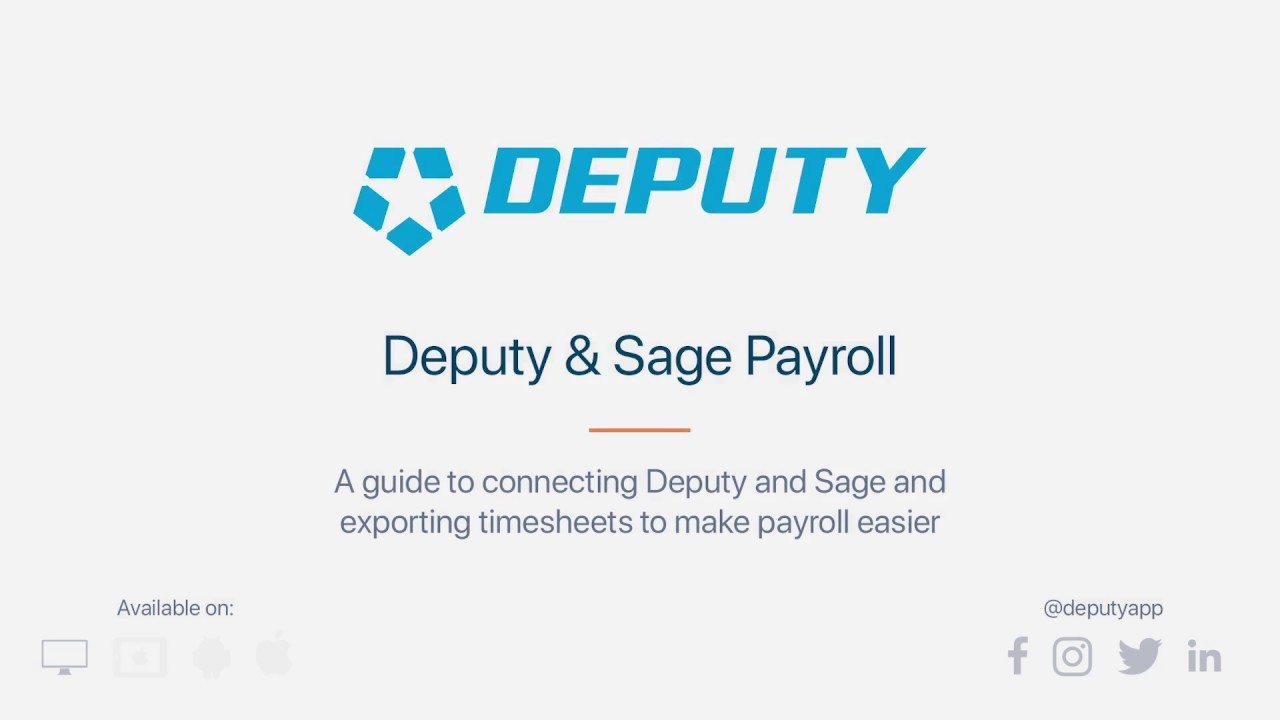 Exporting to Sage 50 and Sage 200 Payroll | Deputy Help Center