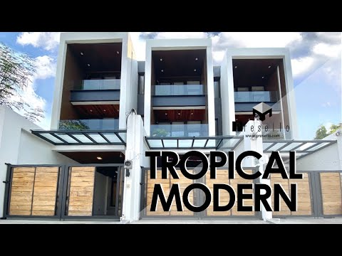 House Tour 115 | Tropical Modern | Stunning upmarket Townhouse for Sale in Quezon City