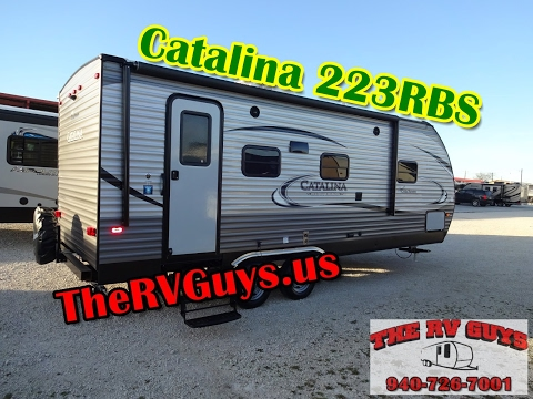 Wide Open And Roomy! Half Ton Tow BP Travel Trailer! 2017 Catalina 223RBS