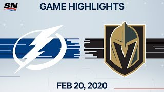 NHL Highlights | Lightning vs. Golden Knights - Feb. 20, 2020