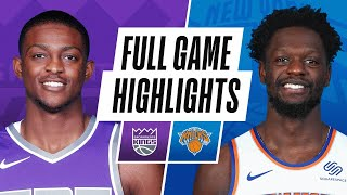 KINGS at KNICKS | FULL GAME HIGHLIGHTS | February 25, 2021