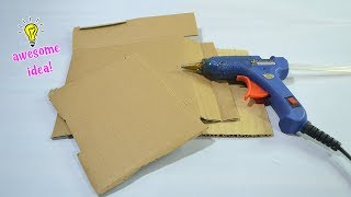 Amazing way to reuse/recyle cardboards|best reuse idea|how to make makeup organizer