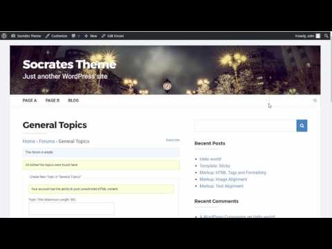 How to install BBPress Forum on Socrates Theme