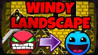¡WINDY LANDSCAPE EASY! | If Windy L Was LVL1 - By GameMaster711 | Geometry Dash [1.9] | MiKhaXx